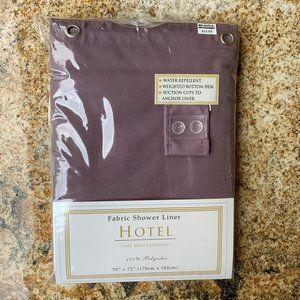 "NEW 5 -Star Hotel Fine Fabric Shower Liner 70""x72"""